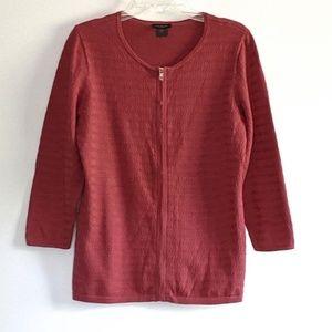 Precious Ann Taylor Factory zip sweater